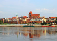 Torun old town, Poland. View on Torun old town (Unesco world heritage site) over Vistula river, Poland stock photography