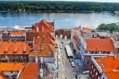 Torun old town, Sailors' gate and Vistula river Stock Photography