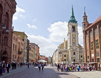 Torun. Old town square Stock Photos