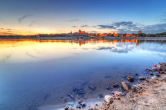 Torun old town at sunset Royalty Free Stock Images