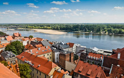 Torun old town and Vistula river Royalty Free Stock Photo