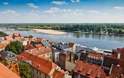 Torun old town and Vistula river Royalty Free Stock Photo