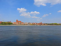 Torun panoramic view stock images