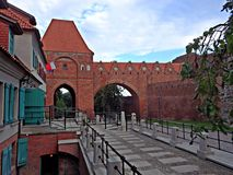 Torun. A piece of old town in Torun Royalty Free Stock Photos