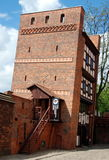 Torun, Poland: 13th Century Leaning Tower Royalty Free Stock Photography