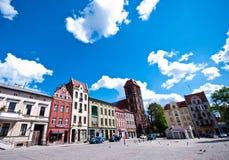 Torun, Poland. Landmark of Torun, Poland. Rynek Nowomiejski (New Town Square royalty free stock photo