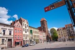 Torun, Poland. Landmark of Torun, Poland. Rynek Nowomiejski (New Town Square Stock Photo