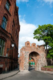 Torun, Poland. Teutonic Knights Castle with fortifications tower Royalty Free Stock Image