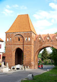 Torun, Poland. Teutonic Knights Castle with fortifications tower Stock Photography