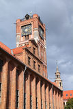 Torun, Poland. Poland - Torun, city divided by Vistula river between Pomerania and Kuyavia regions. Old Town Hall. The medieval old town is a UNESCO World Royalty Free Stock Photos