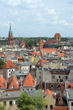 The Torun (Poland). The view of panorama of Torun (Poland) from town hall tower Royalty Free Stock Photography
