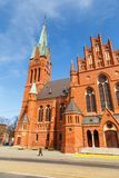 Church of St. Catherine in Torun, historic Catholic temple. Torun, Poland - 05 April 2014: Church of St. Catherine in Torun, historic Catholic temple. The Royalty Free Stock Images