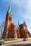 Church of St. Catherine in Torun, historic Catholic temple. Torun, Poland - 05 April 2014: Church of St. Catherine in Torun, historic Catholic temple. The Stock Photography