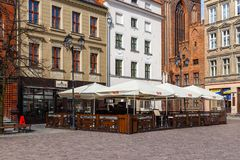 Old Market square in Torun, the oldest city in Poland. Stock Images