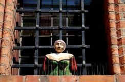 Torun, Poland: Bust on Rathaus Window Royalty Free Stock Images