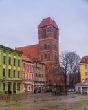 2017 10 20 Torun Poland, gammal marknadsfyrkant i Torun Torun är de äldsta städerna i Polen, födelseorten av astronomen Nicolaus Fotografering för Bildbyråer