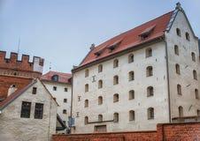 2017 10 20 Torun Poland, gammal marknadsfyrkant i Torun Torun är de äldsta städerna i Polen, födelseorten av astronomen Nicolaus Royaltyfri Bild