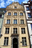 Torun, Poland: House Under the Gold Star. Exquisite 18th century baroque facade of the House under the Gold Star in the Old Town Square with its fine rococo Stock Photography