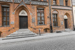 TORUN, POLAND - MAY 18, 2016: House of Nicholas Copernicus (Dom Stock Photography
