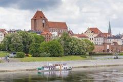 TORUN, POLAND - MAY 18, 2016: Torun in Poland, Old Town skyline, Stock Images