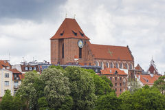 TORUN, POLAND - MAY 18, 2016: Torun in Poland, Old Town skyline, Royalty Free Stock Photography