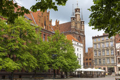 TORUN, POLAND - MAY 18, 2016: Traditional architecture in famous Royalty Free Stock Photos