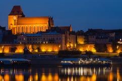 Torun (Poland) at night Royalty Free Stock Image