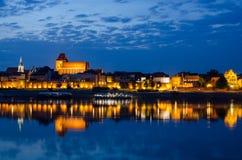 Torun (Poland) at night Stock Photography