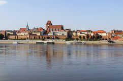 Torun in  Poland. Torun - old city over lake Wisla in Poland Royalty Free Stock Images