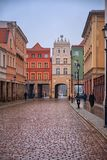 2017. 10. 20 Torun Poland, Old Market square in Torun. Torun is the oldest cities in Poland, birthplace of the astronomer Nicolaus royalty free stock photos