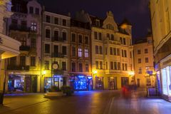 2017. 10. 20 Torun Poland, Old Market square in Torun. Torun is the oldest cities in Poland, birthplace of the astronomer Nicolaus. Copernicus Royalty Free Stock Images