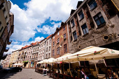 Torun, Poland, old town. Scenic street of the old town of Torun, Poland Royalty Free Stock Image