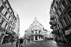 Torun, Poland, old town. Black and white image of Torun (Poland) old town centre Stock Image