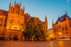 Torun, Poland: old town, city hall. Stock Photos