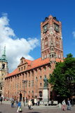 Torun, Poland: Old Town Hall. The Old Town Hall (Ratusz Staromiejski. dating to the 13th century with many later alterations, stands in the center of the Rynek royalty free stock image