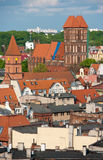 Torun, Poland - rooftops. Aerial panorama of old town of Torun city, Poland. Taken from historic tower of the Town Hall Royalty Free Stock Photo