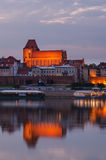 Torun (Poland) in the sunset Stock Photography