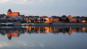 Torun (Poland) in the sunset royalty free stock photo