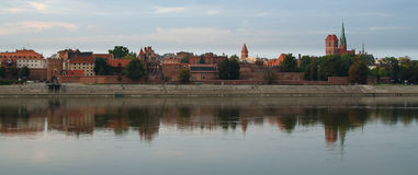 Torun (Poland) in the sunset Royalty Free Stock Photography