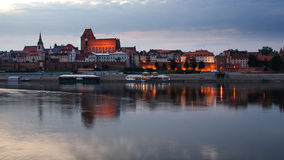 Torun (Poland) in the sunset Royalty Free Stock Images
