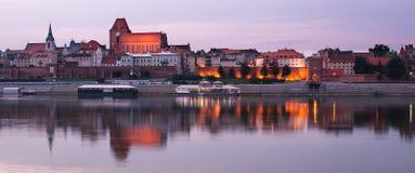 Torun (Poland) in the sunset Stock Image