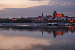 Torun (Poland) in the sunset Royalty Free Stock Image