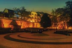 2017 10 20 Torun Poland, vieja plaza del mercado en Torun Torun es las ciudades más viejas de Polonia, lugar de nacimiento del as Foto de archivo