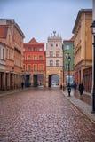 2017 10 20 Torun Poland, vieja plaza del mercado en Torun Torun es las ciudades más viejas de Polonia, lugar de nacimiento del as Fotos de archivo libres de regalías