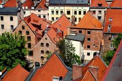 Torun, Poland: View of Hanseatic Houses Stock Image