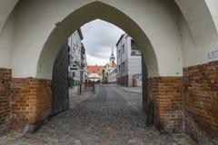 TORUN, POLEN - 18. MAI 2016: Traditionelle Architektur in berühmtem Stockfotografie