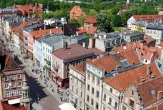 Torun, Polonia: Vista de casas barrocas Imagen de archivo