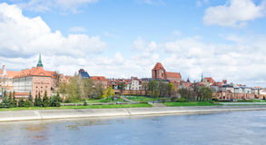 Torun from the River stock photography