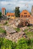 Torun, ruïnes van kasteel Stock Foto's