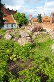 Torun, Ruinen des Schlosses Lizenzfreies Stockbild